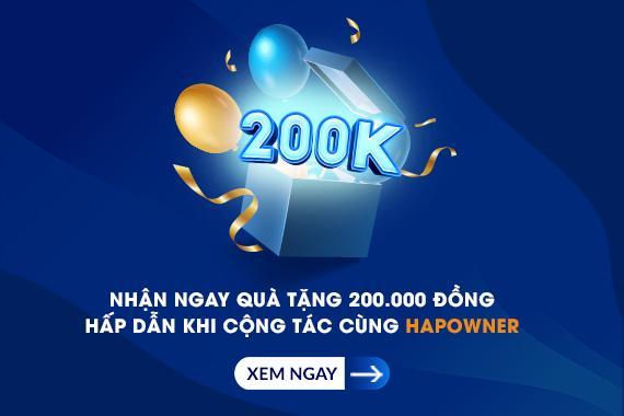 Ưu đãi đặc biệt: Nhận ngay 200.000 đồng khi giới thiệu Ghép đơn mỹ phẩm HapOwner